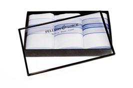 Taschentücher mit blauem Rand