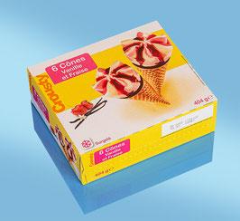 I732 - Cornets CROUSTY vanille/fraise