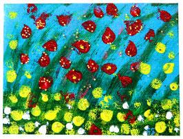"""""""Yellow and red"""" Zeitgenössische Kunst von Melina von Haubrich"""