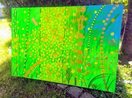 """""""Green field"""" Zeitgenössische Kunst von Melina von Haubrich"""