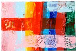 """""""Rainbow scratches"""" Zeitgenössische Kunst von Melina von Haubrich"""