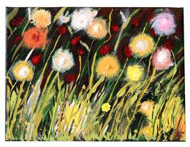 """""""Flower meadow"""" Zeitgenössische Kunst von Melina von Haubrich"""