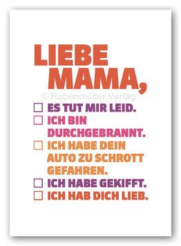 Liebe Mama,