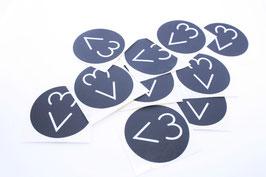 10  XXL Aufkleber  -  Herz