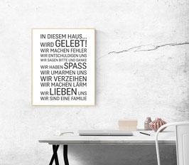 """Poster """"In diesem Haus...."""""""
