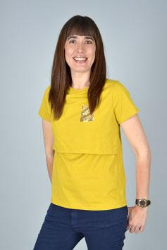 Camiseta de lactancia SHINE ocre