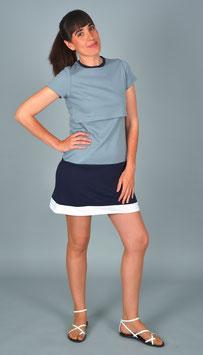 Vestido de lactancia DUO gris-azul