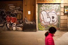La fille en rouge - Barcelone