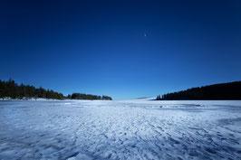 Lac Servières sous la neige