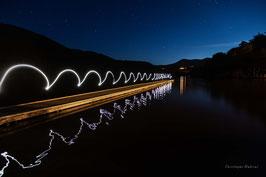 Light Painting - Lac Chambon - Puy de Dôme