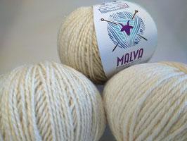 Fils à tricoter MALVA Mohair & Tricots - Naturel
