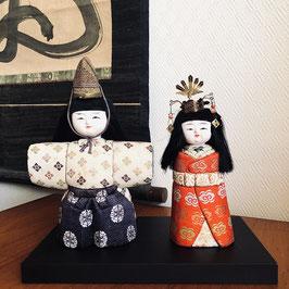 Poupées ningyo Hina Matsuri (impératrice & empereur) avec base