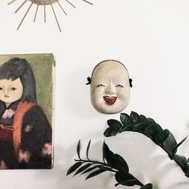 RARE Masque de théâtre Kyôgen - Okame