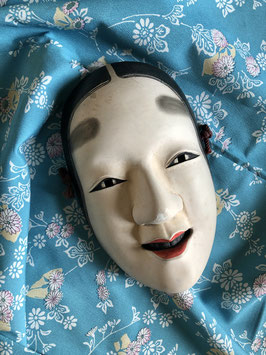 Authentique et ancien masque Noh Magojiro - Signé