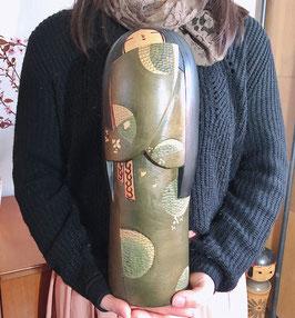 """Kokeshi XXL """"Printemps & Automne"""" de Inosuke Kobayashi (1931-2000) / 40 cm !!"""