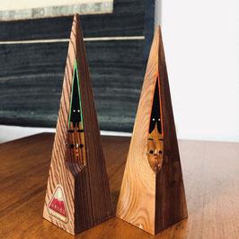 Ensemble de kokeshi Yukinko en bois précieux de cèdre de Yaku