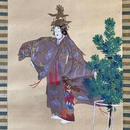 Très grand Kakejiku représentant la légende de Hagoromo - 19ème siècle
