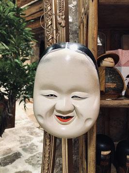 {RARE} Ancien masque Okame, de théâtre Kyogen