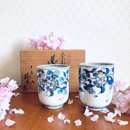 Tasses à thé vintage céramique Kiyomizu