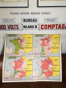 Carte scolaire Les Croisades / La France du Moyen-Age