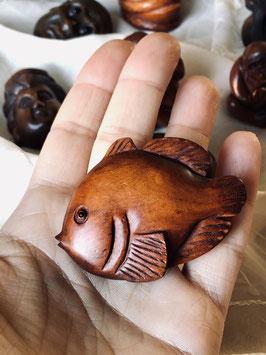 PIECE UNIQUE - Ancien Netsuke poisson