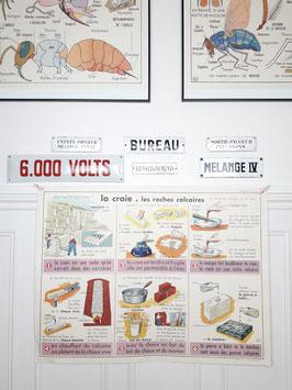 Affiche scolaire MDI Le Charbon / La craie