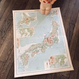 Grande carte ancienne du Japon de 1922 (en anglais)
