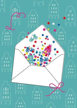 Briefumschlag Beste Grüße