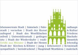 Rathaus grün auf Text