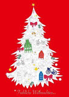 Ausmalbaum - Fröhliche Weihnachten