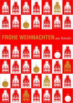 Rathaus gekachelt - Frohe Weihnachten aus Münster