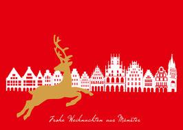 Prinzipalmarkt - Rentier – Frohe Weihnachten aus Münster