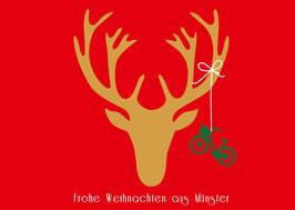 Hirschkopf Rad - Frohe Weihnachten aus Münster