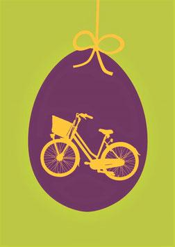 Fahrrad auf Ei