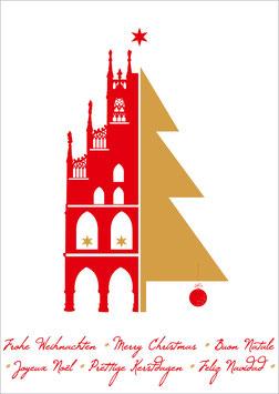 Rathaus Baum – Frohe Weihnachten - Merry Christmas