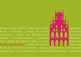 Rathaus pink auf Text
