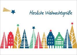 Prinzipalmarkt - Bäume – Herzliche Weihnachtsgrüße