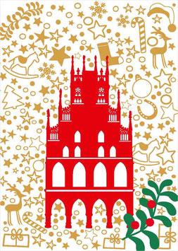 Rathaus auf Weihnachtsmuster