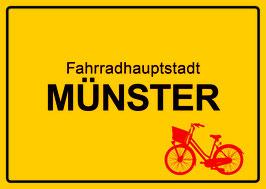 Ortsschild - Fahrradhauptstadt