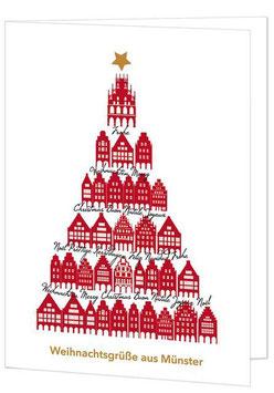 Giebelhäuser-Baum – Weihnachtsgrüße aus Münster