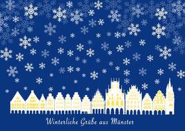 Prinzipalmarkt Schnee – Winterliche Grüße aus Münster