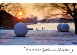 Winter Aaseekugeln – Winterliche Grüße aus Münster
