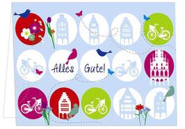 Fahrräder / Vögel - Alles Gute