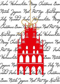 Rathaus auf Weihnachtsgruß