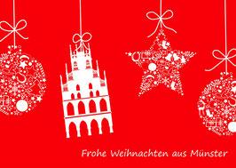 Weihnachtskugeln und Rathaus