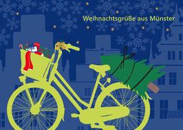 Fahrrad – Weihnachtsgrüße aus Münster