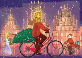 Radfahrerin - Weihnachtsengel