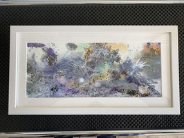 Acrylbild  Explosion Nr. 011 auf Leinwand ca. 45  x 26  D. Black Einzelstück / Original inkl. Rahmen