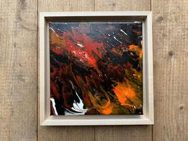 Acrylbild Feuer Nr. 004 auf Leinwand ca. 25 x 25  D. Black Einzelstück / Original