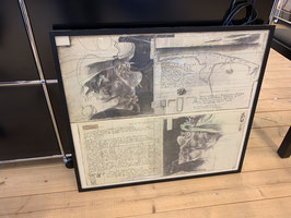 Horst Jannsen mit Rahmen ca. 60 x 70 mit Signatur